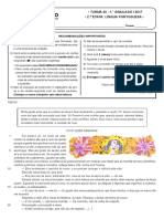 1º Simulado - 2ª Etapa - Língua Portuguesa