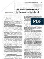 Los Delitos Tributarios, La Defraudación Fiscal - Reinaldo Calvachi Cruz