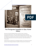 The Portuguese Inquisition in Goa - A Brief History