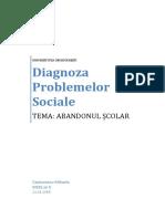 Diagnoza Problemelor Sociale, ABANDONUL SCOLAR
