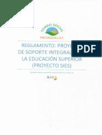 Reglamento Proyecto SIES 2018