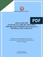 Pacto de San Jose de Consta Rica Por Organos Jurisdiccionales de La Republica Del Paraguay