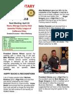 Moraga Rotary Newsletter 4.17.18