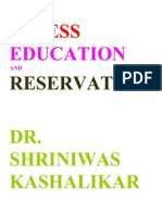 Stress Education and Reservation Dr. Shriniwas Kashalikar