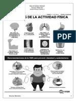 """Guía Cs. Naturales Segundo Básico """"Beneficios de la Actividad Física"""""""
