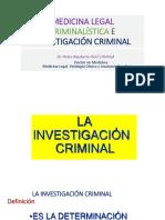 Medicina Legal Criminalística e Investigación Criminal