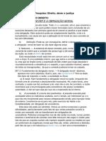 Pesquisa Língua Portuguesa -Direito,Dever e Justiça