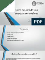 Materiales Empleados en Energías Renovables