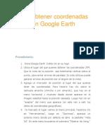 Cómo Obtener Coordenadas UTM Con Google Earth