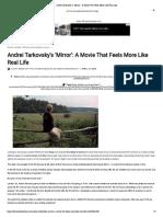 PASADO. LEIDO. Andrei Tarkovsky's 'Mirror'_ a Movie That Feels More Like Real Life