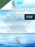 P. Dávila (La Paz, Fruto de La Sintonía Con Dios)