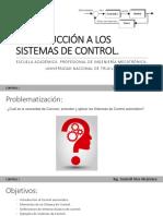 Introducción a Los Sistemas Dde Control i - 2018