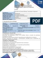 Guía de Actividades y Rúbrica de Evaluación - Fase 3 - Reconocer Las Operaciones Unitarias Que Involucran Cambios Físicos