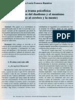 La trama psicofisica Argumentos del dualismo y el monismo en torno al cerebro y la mente.pdf