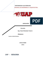 geologia informe