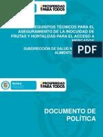 Requisitos Técnicos Aseg Inocuidad Frutas y Hort Acceso a Mercados