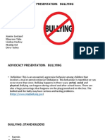 advocacy presentation-bullying