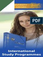 Szte International Study Programmes Update2015