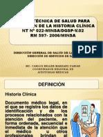 Norma Técnica Gestión de la Historia Clínica.ppt