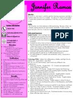 resume of jennifer ramos