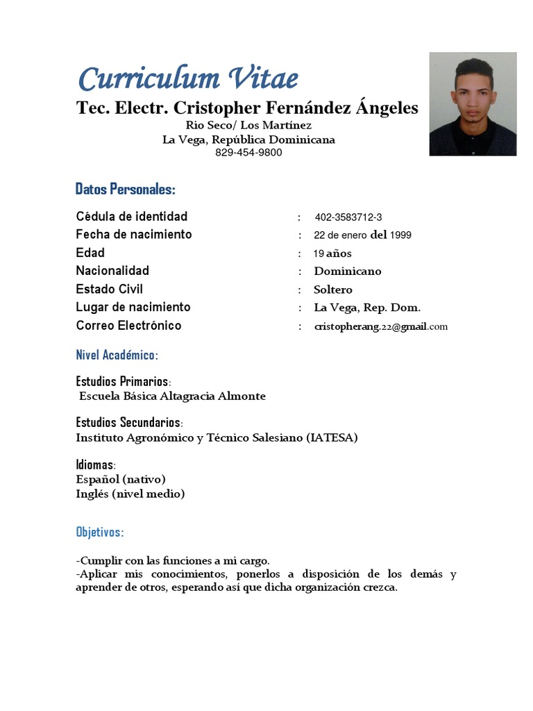 Excelente 1300 Curriculum Vitae Criterios De Selección De Muestras ...