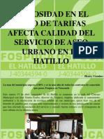 Henry Camino - Morosidad en el pago de tarifas afecta calidad del servicio de Aseo Urbano en el Hatillo