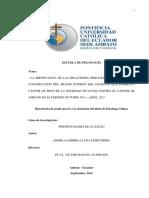 Construccion Del Mundo Interno Del Paciente Con CÁNCER de SENO