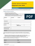 Economics Assignment Cover Sheet