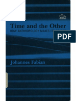 Fabian, Johannes Time and the Other How Anthropology Makes Its Object 1983 PDF