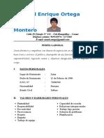 CV Amed Ortega Montero