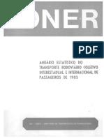 Anuário Estatístico DNER 1986-1985