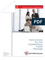Dot Net Nuke Install Package Installation Instructions 071410