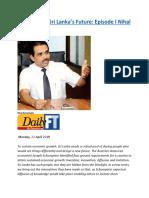 Designers of Sri Lanka's Future  Episode I Nihal Ranasinghe.docx