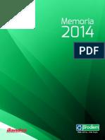 30Jun2015 Memoria Institucional 2014