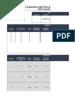 Plantilla Semiautomática MRP Planificación de Requerimientos de Material