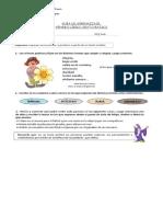 Guia de Aprendizaje Genero Lirico 6to