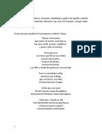 Palabras de Graduación Pantano