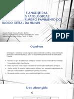 Investigação e Análise Das Manifestações Patológicas