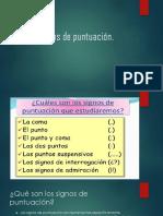 Presentacion. Signos de Puntuacion. 2