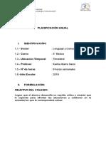 Planificación anual  5° 2018