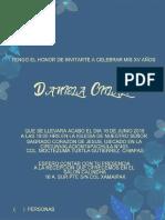 DISEÑO DE TARJETA XV AÑOS