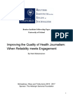 Improving the Quality of Health Journalism