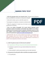 20. Descargar Examen Tipo Test