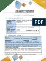 Guía de Actividades y Rúbrica de Evaluación -Paso 3 - Aplicación Modelos Disciplinares