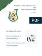 Analisis Interno de La Institucion Educativa Pio Xi