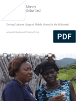 Mobile Money For the Unbanked