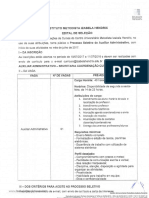 Edital Vaga Administrativo
