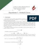 Experimento 1 - Oscilac_o_es Livres - V3