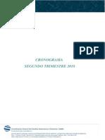 Cronograma II Trimest 2018 CEIDIS