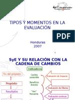 Tipos y Momentos en Evaluación.ppt